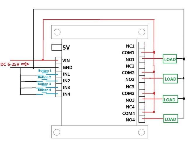 Online-Shop Dc 5v 12v 24v 4ch bluetooth relais 2.4g rf wireless ...