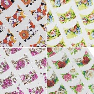 Image 3 - 44pcs נייל אמנות מדבקות סטי יופי קסם DIY צרפתית טיפים פרח עיצוב העברת מים מדבקות Slider עבור מניקור פולני NJ003