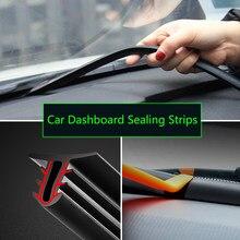 Tira de vedação de som de borracha do carro dashboard tiras de vedação auto pára-brisa bordas gap tiras de vedação carros acessórios interiores