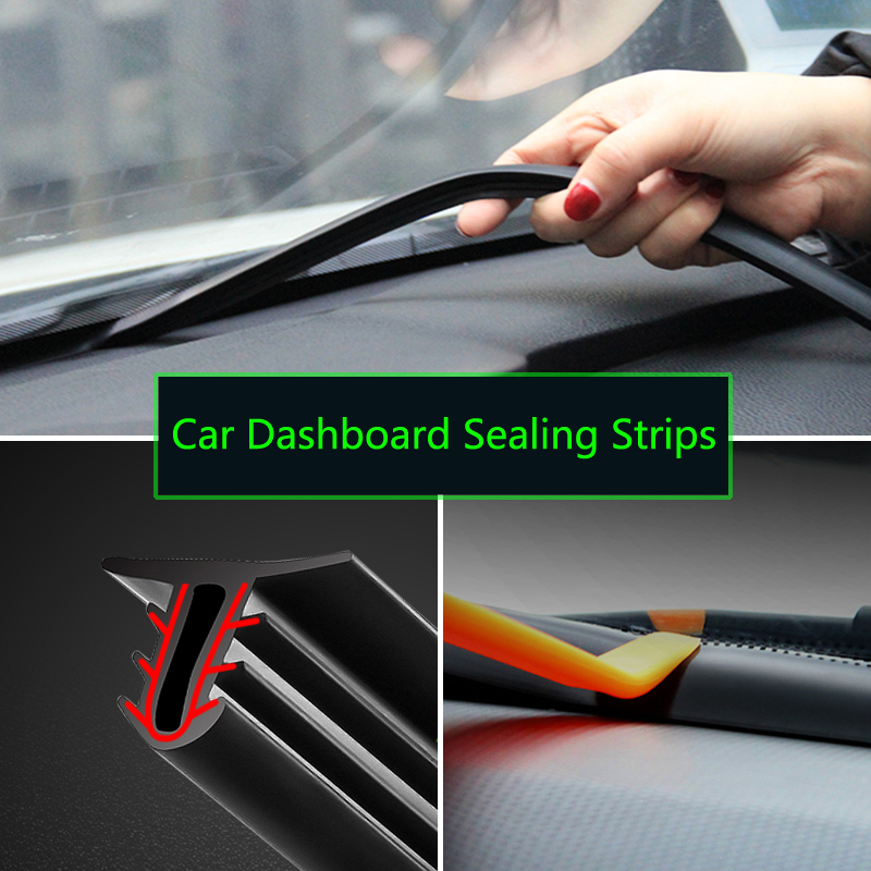 Car Rubber Sound Seal Strip Dashboard Sealing Strips For <font><b>Hyundai</b></font> solaris accent i30 ix35 i20 elantra <font><b>santa</b></font> <font><b>fe</b></font> tucson getz image