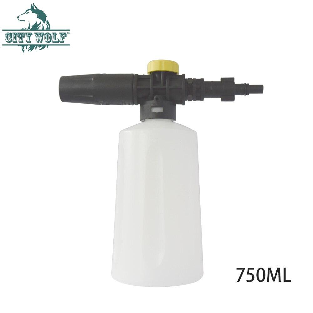 Canhão de espuma de neve Espuma Lança lavadora de Alta pressão 750 ML para Black & Deck AR Makita Bosch AQT lavador de carros acessórios Cidade do Lobo
