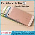 2016 nueva colorful metal duro volver cubierta de batería de vivienda para el iphone 5S como SÍ caso cubierta Del Capítulo Medio rojo rosa de oro rosa