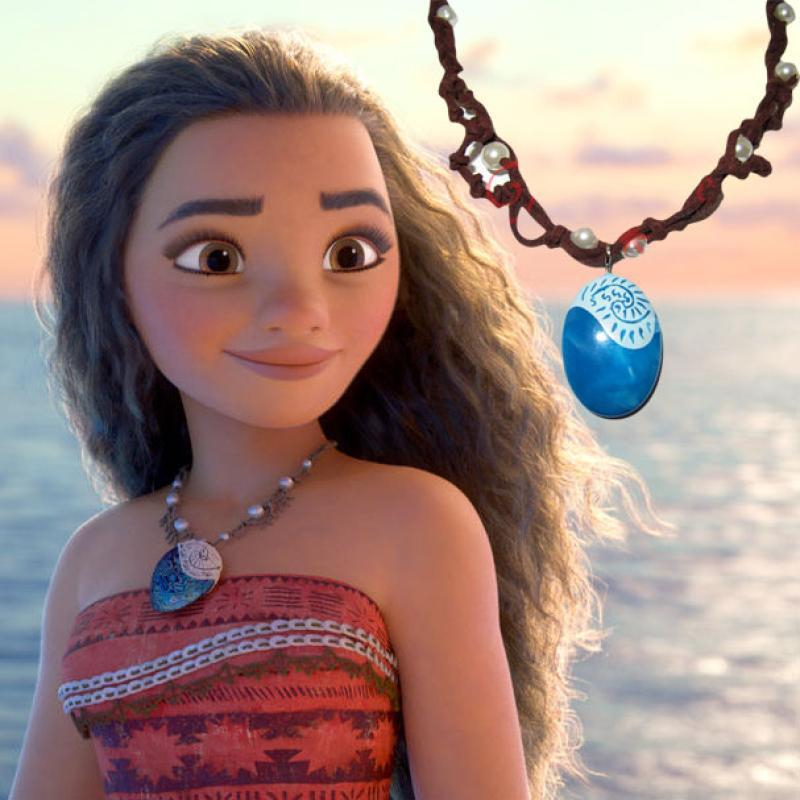 Movie Moana Pendant & Necklace Polynesia Princess Moana Cosplay Leather Chain 60cm Ocean Romance for Women Christmas Party Gift