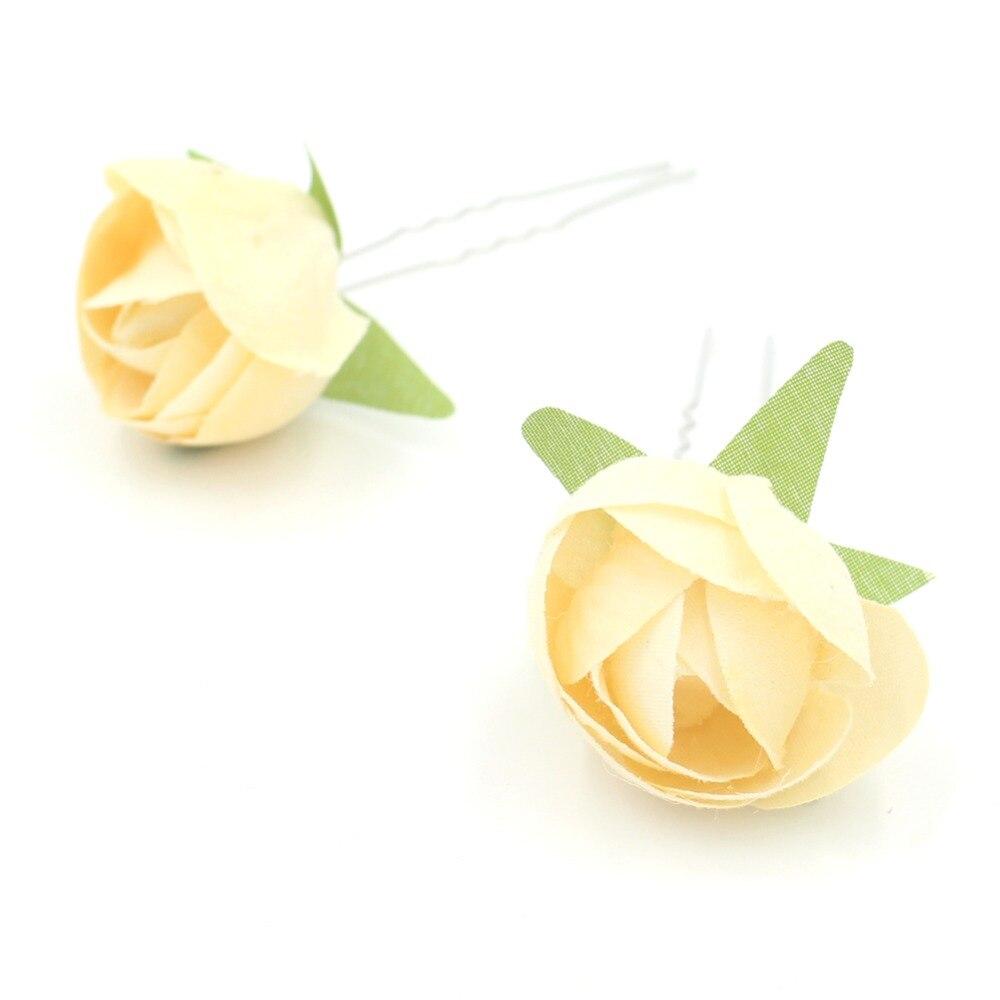 Aliexpress Buy Red Yellow Purple Flower Hair Clips Wedding