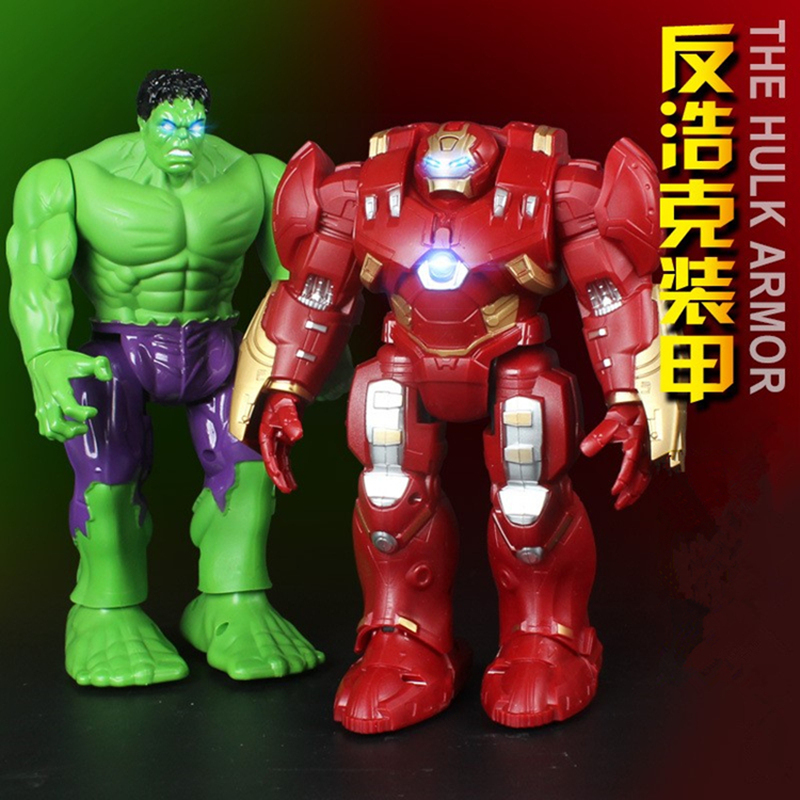 2017 Newest Avengers Action Figure America Captain Iron Man Hulk Avengers Model Toy Electric Robot Armor Joints Movable купить