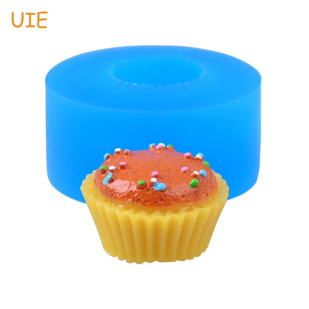 Fondant Cake Decorating Tools Resin Polymer Clay Food Safe Shrink-Proof Candle Soap Diy Handmade Gyl542u 28mm 3d Cupcake Silicone Mold