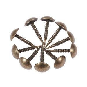 100Pcs Antique Bronze Upholstery Nail Jewelry Wood Box Sofa Furniture Tack Stud Pushpin Doornail Furniture Hardware Decor 8*15mm(China)