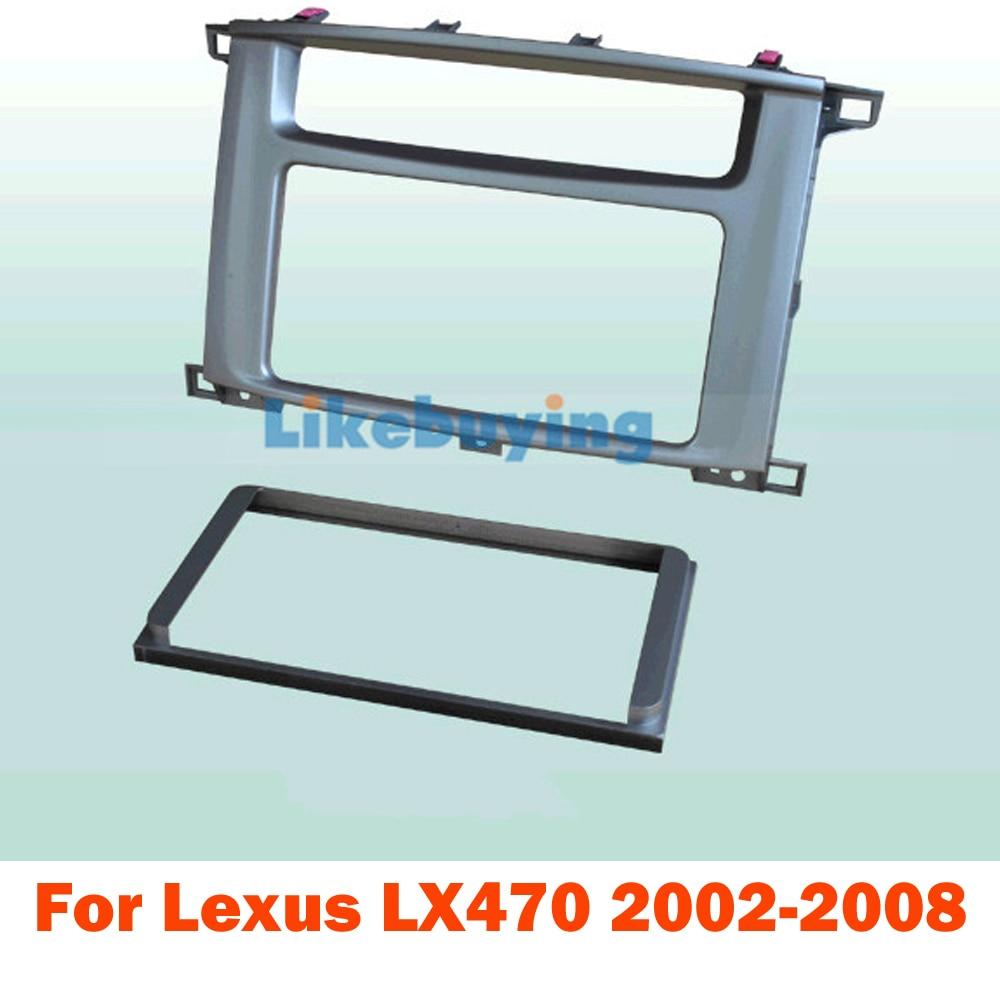 2 DIN автомобиль Рама даш Комплект для Lexus LX470 2002 2003 2004 2005 2006 2007 2008 для 177*99.6 мм, или 200*100мм 2 Дин