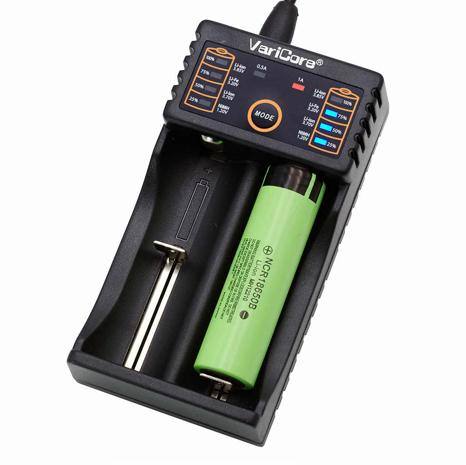 VariCore V20i V10 18650 lader 1.2 v 3.7 v 3.2 v 3.85 v AA/AAA 18350 26650 10440 14500 16340 25500 NiMH lithium batterij oplader