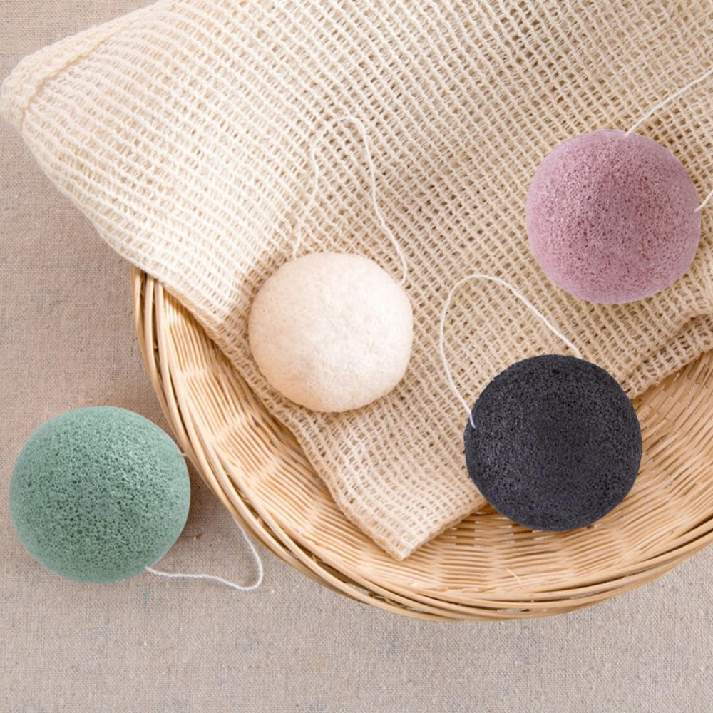 Image 5 - 4pcs Exfoliator Cleanse Konjac Sponge Natural Konjac Konnyaku Puff Face Wash Cleaning Sponge Esponja Maquiagem Makeup Konjac-in Cosmetic Puff from Beauty & Health
