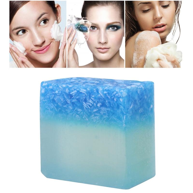 Bule Sea Salt Soap Cleaner Removal Pimple Pores Acne Treatment Moisturizing Face Care Wash Basis Soap Natural Deep Clean TSLM2
