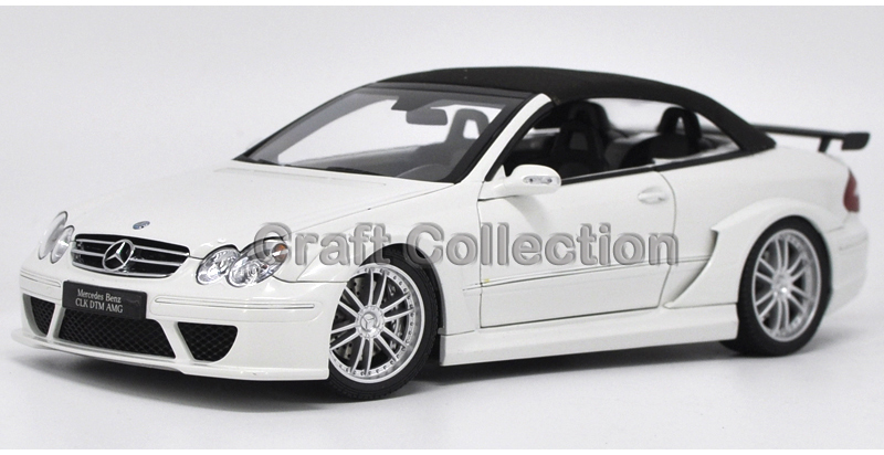 * White 1:18 Benz CLK DTM AMG Cabriolet Convertible Diecast Model Car Luxury Gifts Rare Miniature