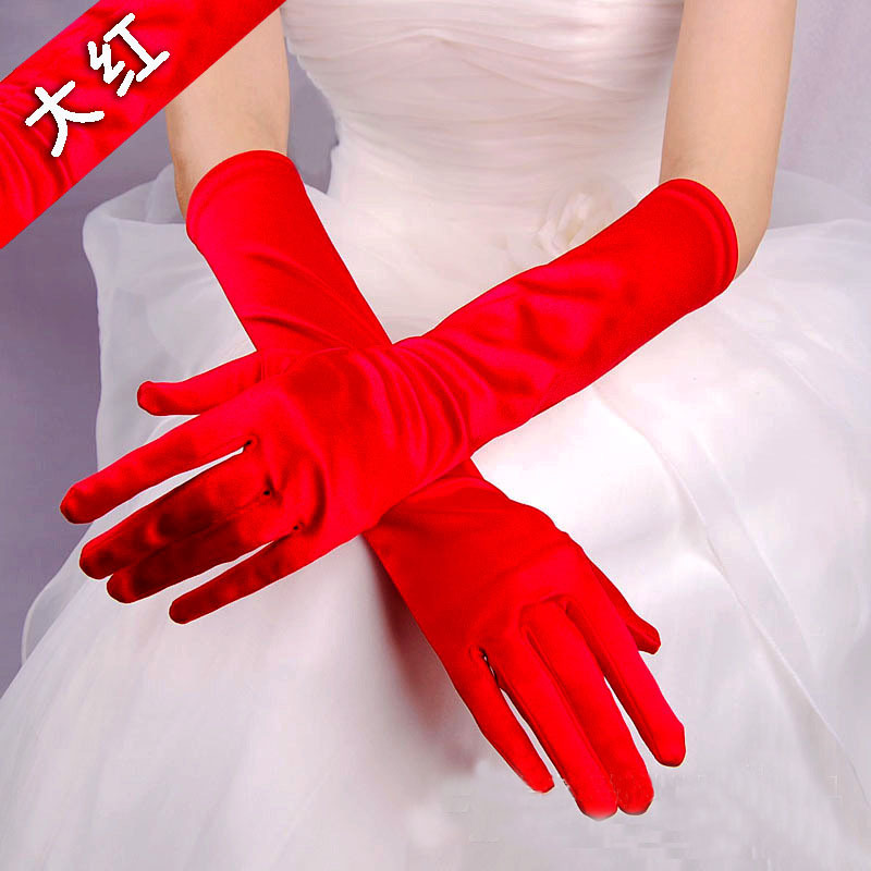Cross border dress gloves refer to multi color gloves for evening dresses fun parties and special occasions in Women 39 s Gloves from Apparel Accessories