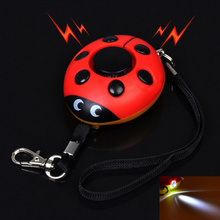 Portable Personal Security Alarm Keychain 120dB Anti-Attack Beatles Shape Emergency Alarms Keyring For Women Kids Girls