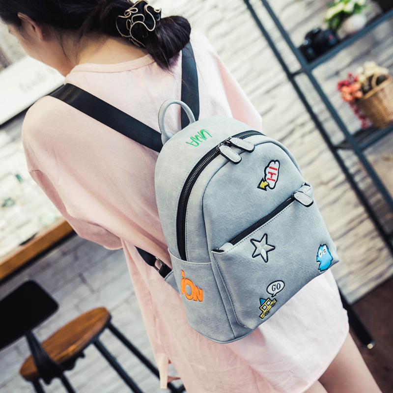 Hot sale fashion woman bag new brand fashion autumn woman shoulder bag sweet cartoon embroidery students