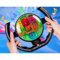Ball Maze Music steering wheel 3D Magic Intellect Maze Ball Puzzle Games Children Educational perplexus Maze Cube balls