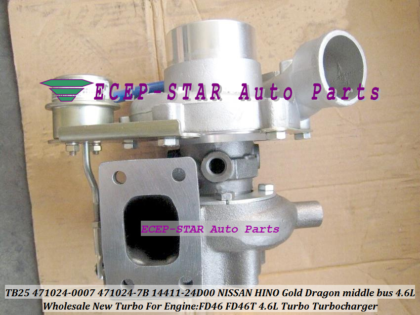 TB25 471024 471024-7B 14411-24D00 1441124D00 471024-0007 471024-500 Turbo For NISSAN HINO Gold Dragon middle bus FD46 FD46T 4.6L