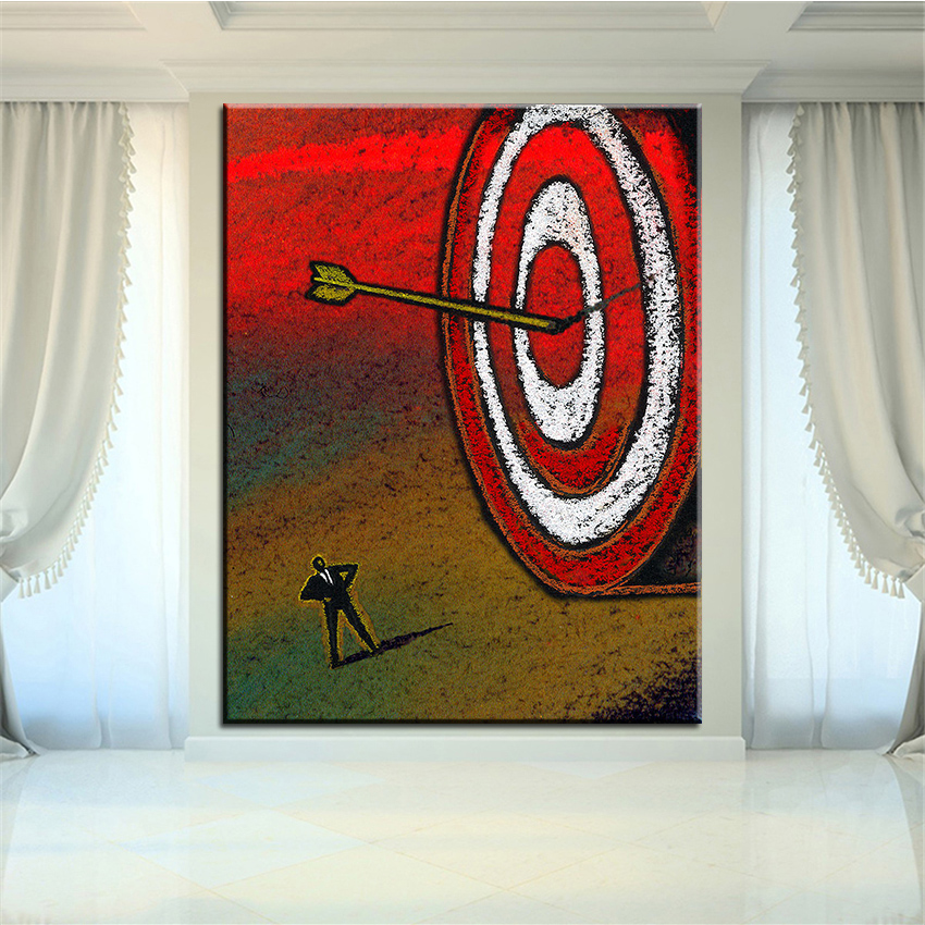 Large size Printing Oil Painting target Wall painting Home Decorative Wall Art Picture For Living Room painting No Frame
