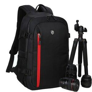 Image 1 - 대용량 방수 사진 카메라/비디오 가방 DSLR 카메라 배낭 카메라 사진 가방 니콘 캐논 Slr 카메라 렌즈