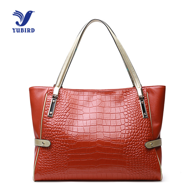 YUBIRD Luxury Handbags Women Bag Designer Real Leather Tote Bag Female Genuine Leather Handbags Large Big Bag Shoulder Crocodile hahmes 100% genuine leather women s handbag crocodile pattern designer female real cow leather tote bag 28cm 10763