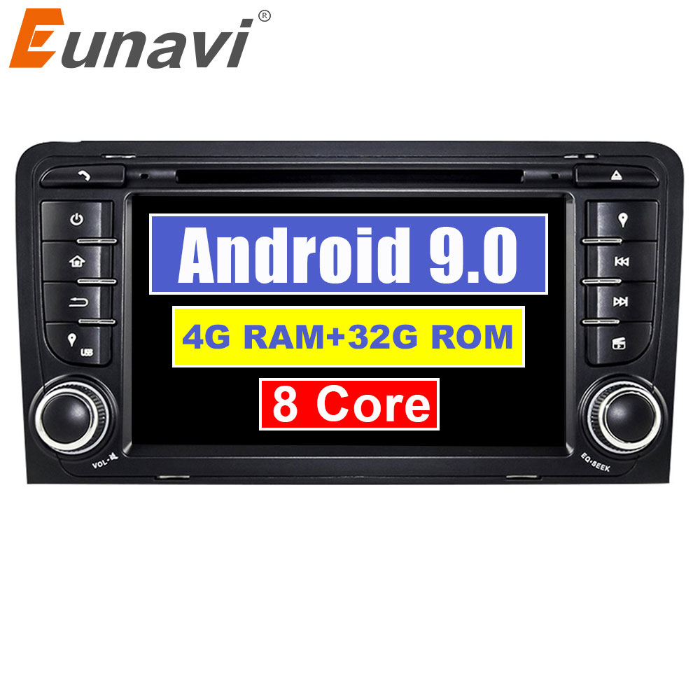 Eunavi 7 Octa 8 Core 4G RAM Android 9.0 Car DVD Radio Player for Audi A3/S3(2003-2013) stereo with TPMS/OBD2/4G/DAB+/GPS/WIFIEunavi 7 Octa 8 Core 4G RAM Android 9.0 Car DVD Radio Player for Audi A3/S3(2003-2013) stereo with TPMS/OBD2/4G/DAB+/GPS/WIFI