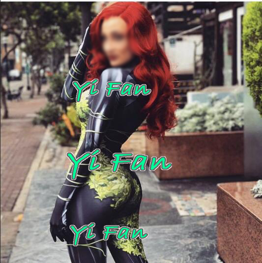 Poison Ivy Cosplay Costume 3D Printed High Quality Lycra Spandex Halloween costume for woman female superhero Bodysuit