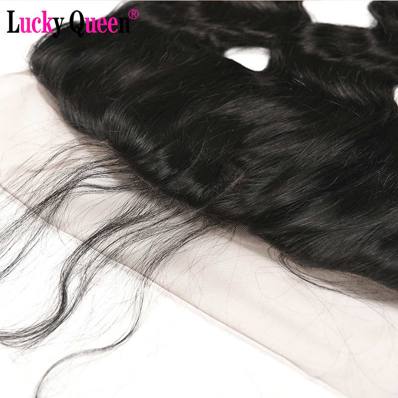 Peruvian Straight Hair Bundles With Frontal 4pcs/lot Non Remy Human Hair Bundles With 13*4 Frontal Lucky Queen Hair Products