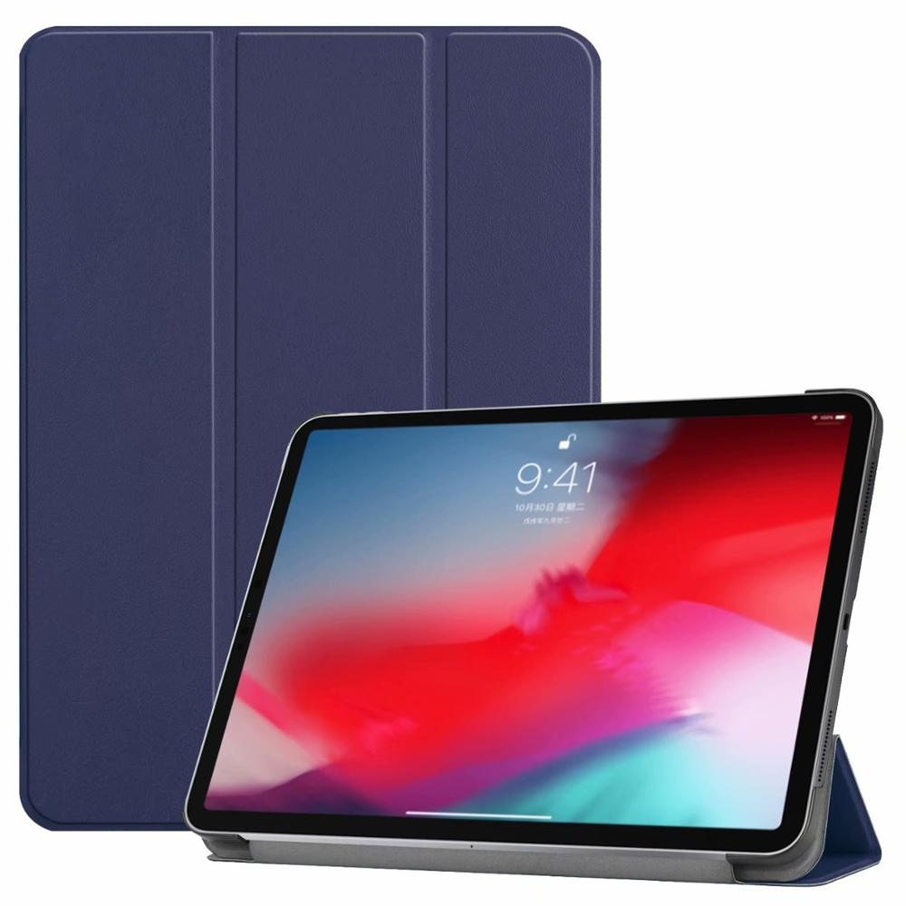 Dark blue iPad Pro3 11 2018 smart case with different patterns