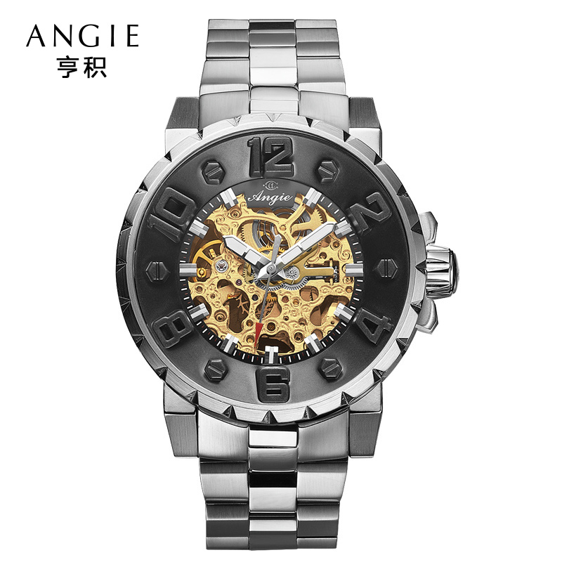 3e461564d83 Angie Luxury Brand Big Dial Automatic Mechanical Watch Men Casual Sport 3D  Hollow Skeleton Watch Relogio Masculino Reloj Hombre-in Mechanical Watches  from ...