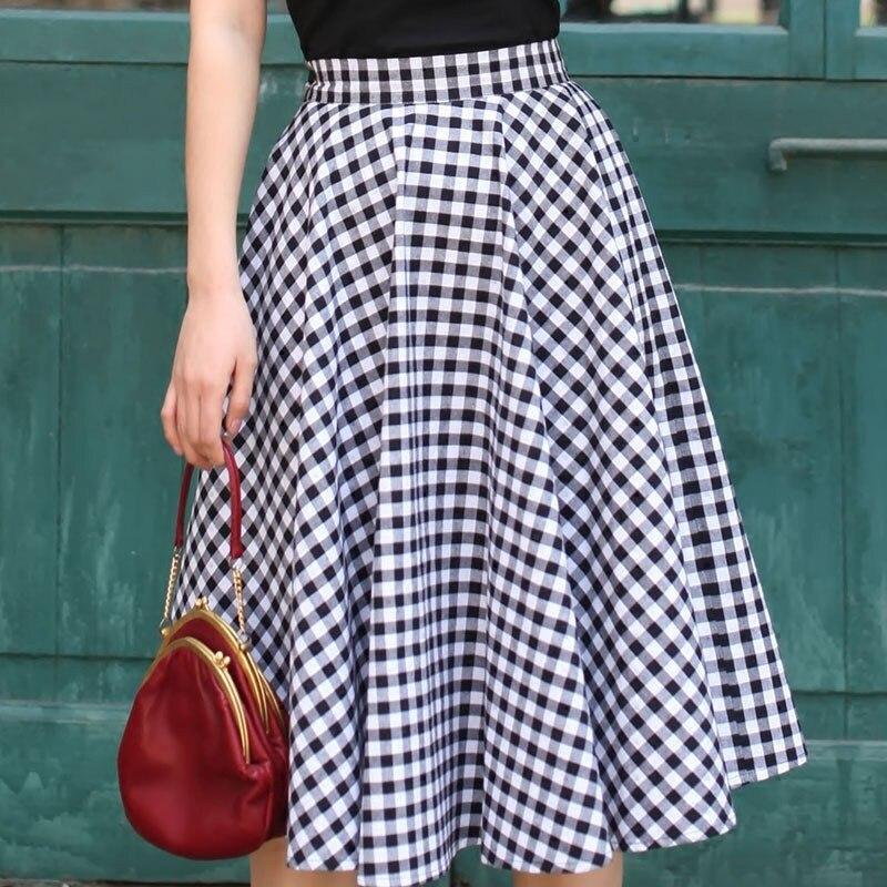 8431694a0e5 40- vintage 50s Audrey Hepburn white black gingham full circle midi swing  skirt rockabilly pinup