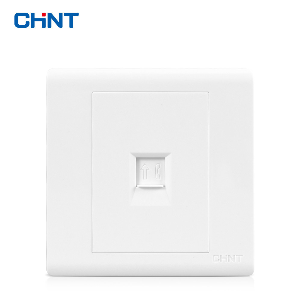 CHNT NEW7D Wall Switch Socket Telephone Socket Panel Telephone Socket Weak Electrical Connector Receptacle in Electrical Sockets from Home Improvement