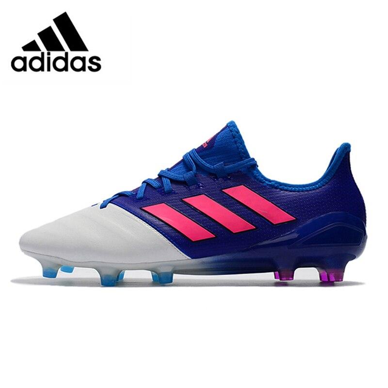 f7d3b92b12fc Adidas 2017 Autumn New Men ACE 17.1 LEATHER FG Nail Grass Blue White Soccer  Shoes BB4321