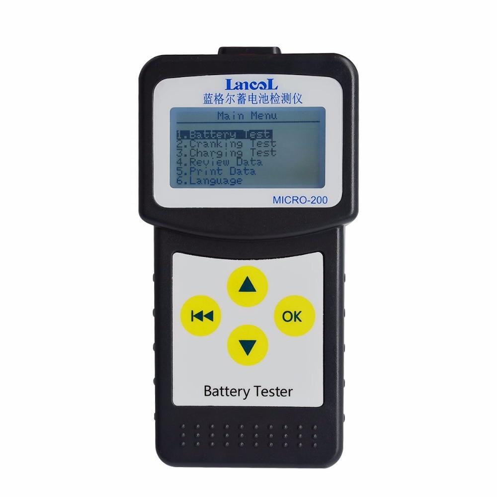LANCOL Digital Battery Tester 12V Car CCA Battery Tester battery / conductance / resistance Auto Battery Measurement Unit цены онлайн