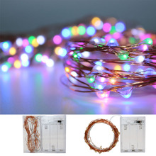 2X 50/30LED Starry String Lights Silver&Copper Wire ,3 AA Battery Powered Micro Strip Light for Party Christmas Wedding&holiday