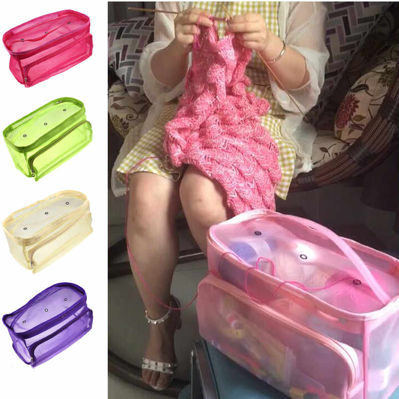 9 Styles Yarn Storage Bag Knitting Tote Bag For  Crochet Hooks Knitting Needles and Sewing Accessories Yarn Holder Bag For Mom