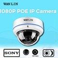 Wan lin 2.0mp sony imx323 full hd 1080 p poe cámara de red ip cámara domo a prueba de vandalismo de cámaras de seguridad video vigilancia cámara