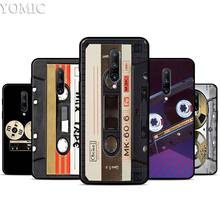 vintage Magnetic tape Cassette Silicone Case for Oneplus 7 7Pro 5T 6 6T Black Soft Case for Oneplus 7 7 Pro TPU Phone Cover