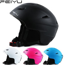 AS FISH Men Women Outdoor Ski Helmet Integrally-molded Skiing Helmet Snow Helmet Safety Skateboard Ski Snowboard Helmet купить недорого в Москве