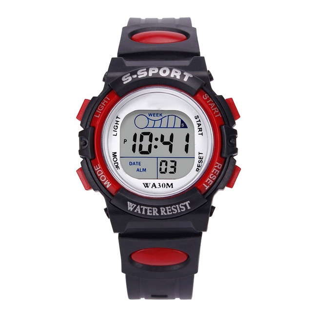 Splendid Waterproof Children Boys Digital LED Sports Watch Kids Alarm Date Watch Casual Wristwatches clock relogio masculino