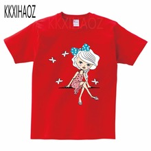 2019 new fashion kids baby girls t-shirts clothing childrens clothes 100%cotton blouse cute cartoon summer short t shirts MJ стоимость