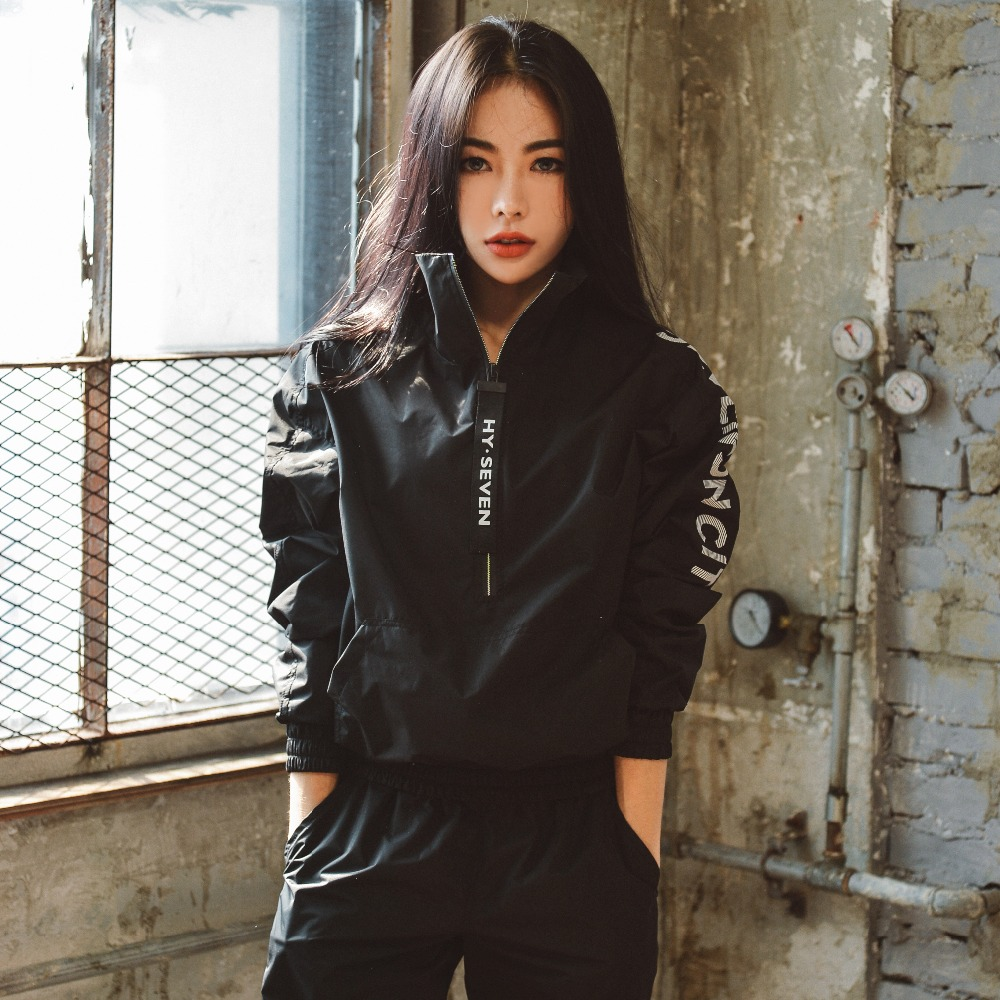 HY SEVEN Women Long Sleeve Running Jacket Coat Sports Windbreaker Workout Tops Fitness Sportswear Clothes For Spring Autumn