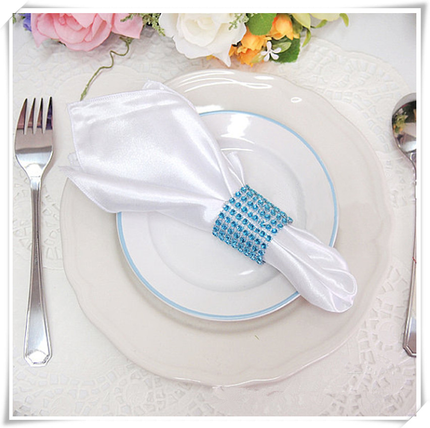 100pcs / a lot 20x20 stain fabric plain napkin match the table cloth factory manufacture