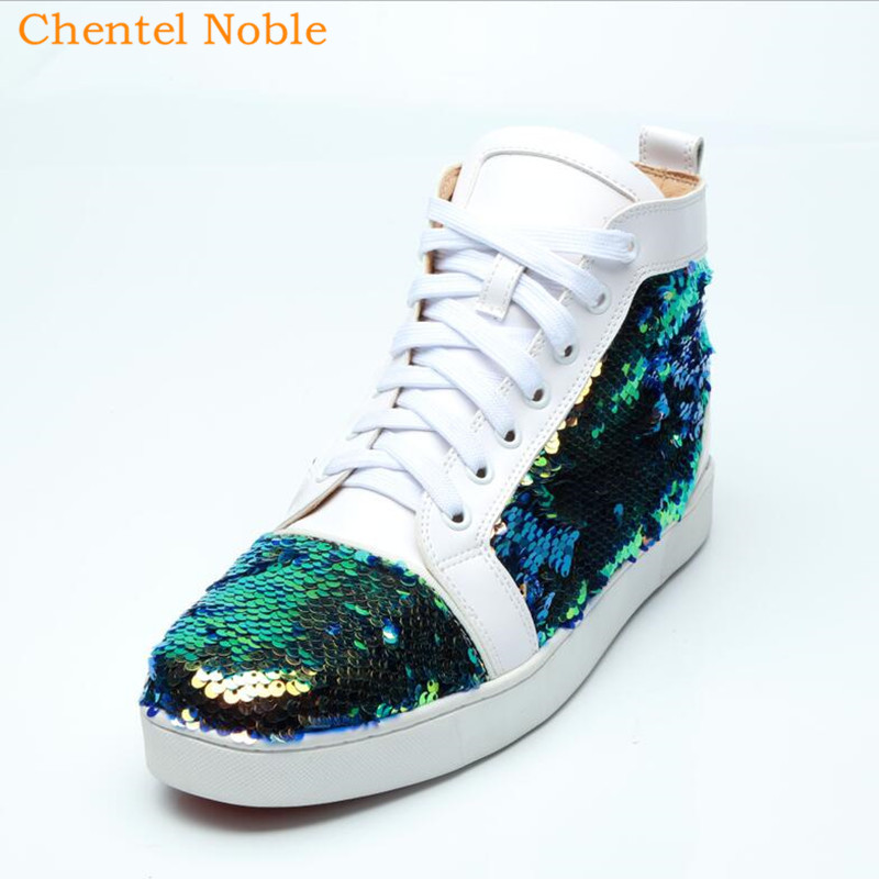 Detail Feedback Questions about 2018 Brand Resign Chentel Noble New Leather  Bling Leisure Shoes Walking Sneakers Outdoor Shoes For Men Lace Up White Big  ... 2074b66f0e93