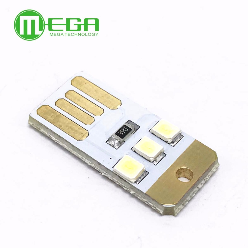 Bright 5pcs Mini Night Usb Led Keychain Portable Power White Board Pocket Card Lamp Bulb Led Integrated Circuits