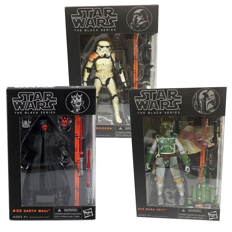 6inch 17cm Star Wars Figure The Black Series 06  03 Sandtrooper 02 Darth Maul Action Figures Toys