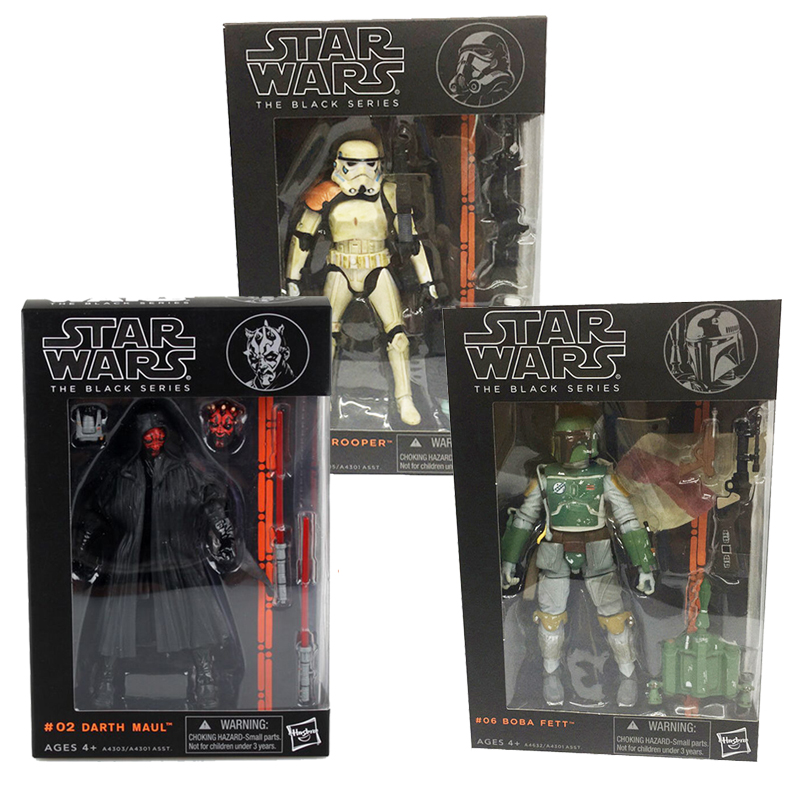 """6/"""" Black Series Star Wars PVC Action Figure Darth Vader Boba Fett Stormtrooper"""