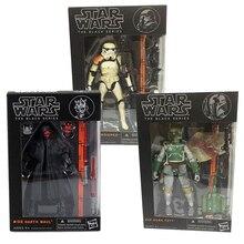 Figuras de acción de Darth Maul, serie negra 06 03, Sandtrooper 02, juguetes de 6 pulgadas y 17cm