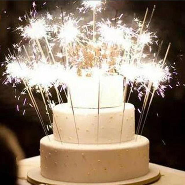 8pcs Set Birthday Cake Sparklers Candle Decor Wedding Party Decoration Festive Supplies For Anniversary