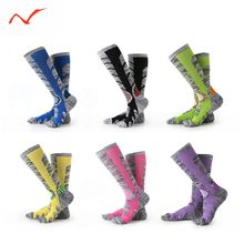 Winter Warm Men Women Thermal Ski Socks Thick Cotton Sports Snowboard Cycling Skiing Soccer Leg Warmers Long