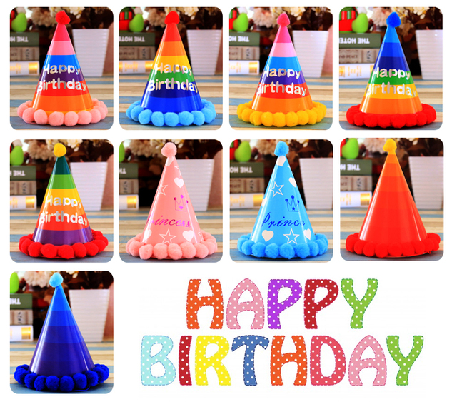 A Variety Of Birthday Party Decoration Baby Dress Hat Rainbow Hair Ball